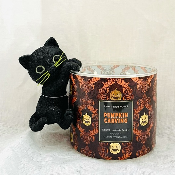 Bath and Body Works black cat candle accessory